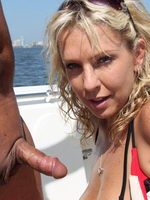 Slutty Akysha Sucks Some Cock And Gets A Good Fucking Whike Out On Her Boat - Picture 9