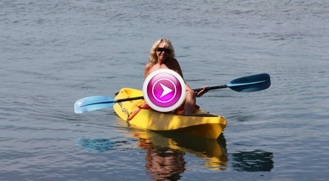 nude canoeing